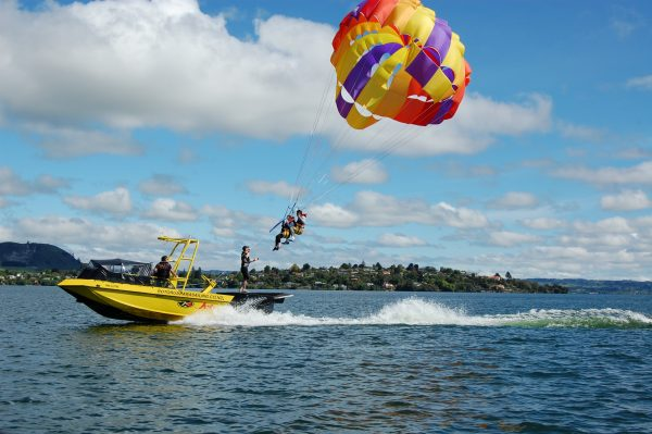 Tandem Parasailing - Rotorua - Exhilerating activities not to be missed - book online