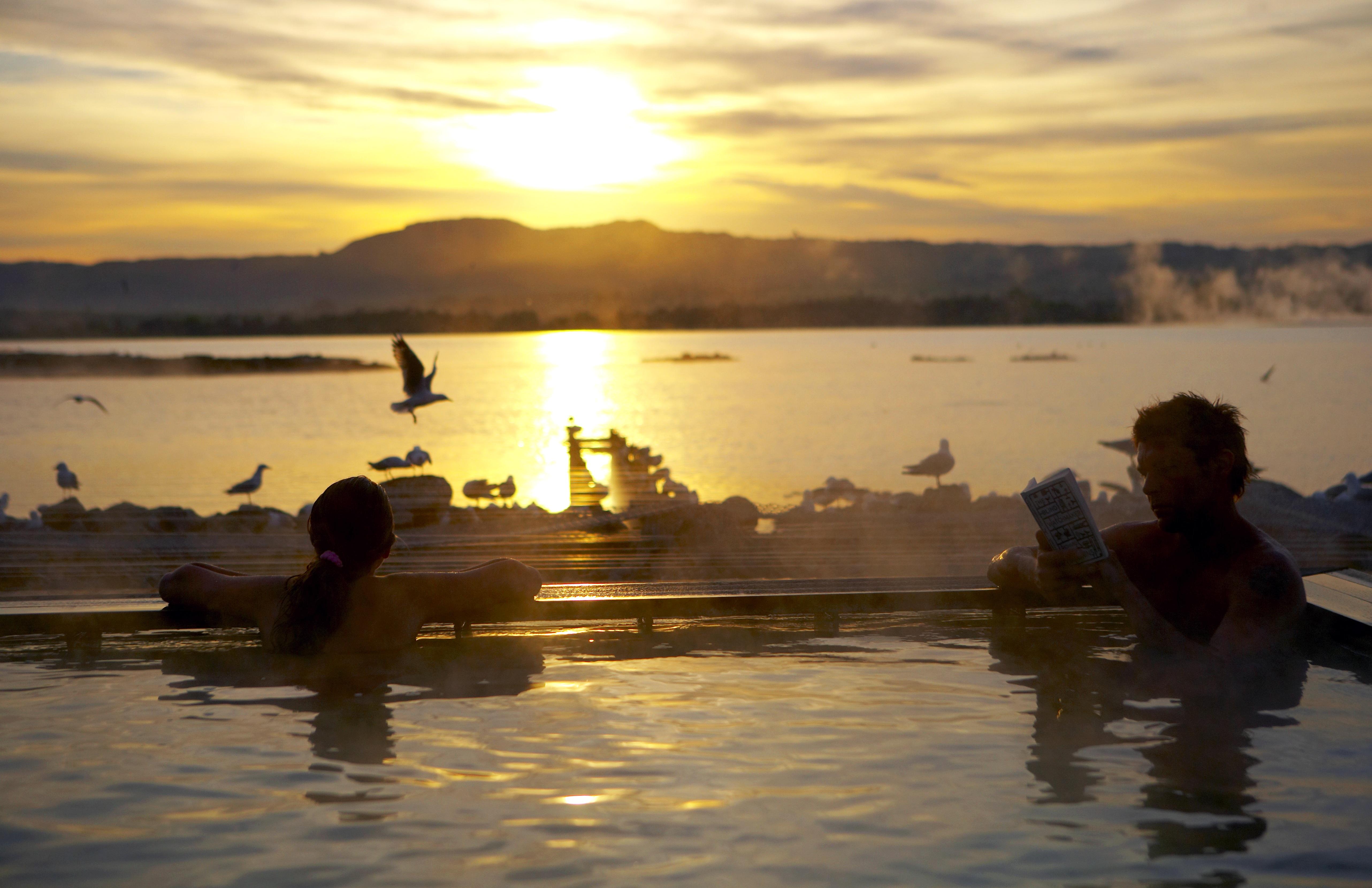 Polynesian Spa. Thermal hot spa